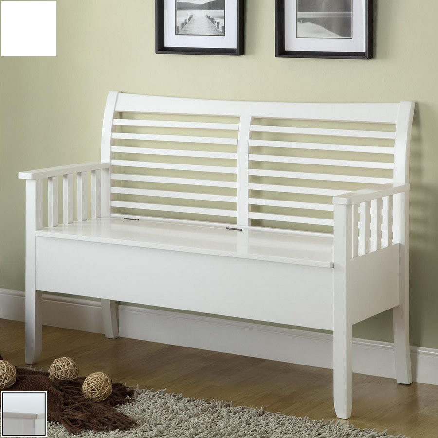 Best ideas about White Entryway Bench . Save or Pin Entryway Bench White With Arm — Home Design Entryway Now.