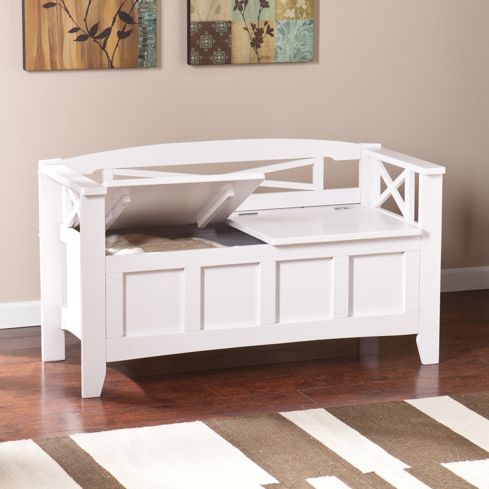 Best ideas about White Entryway Bench . Save or Pin Storage Bench Entryway White — STABBEDINBACK Foyer Now.