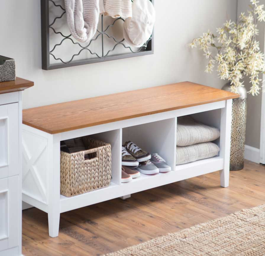 Best ideas about White Entryway Bench . Save or Pin White Entryway Storage Bench Aspect — STABBEDINBACK Foyer Now.