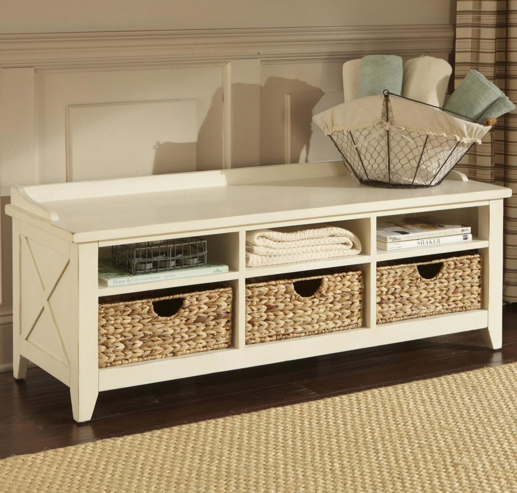 Best ideas about White Entryway Bench . Save or Pin White Entryway Storage Bench Review — Home Design Making Now.