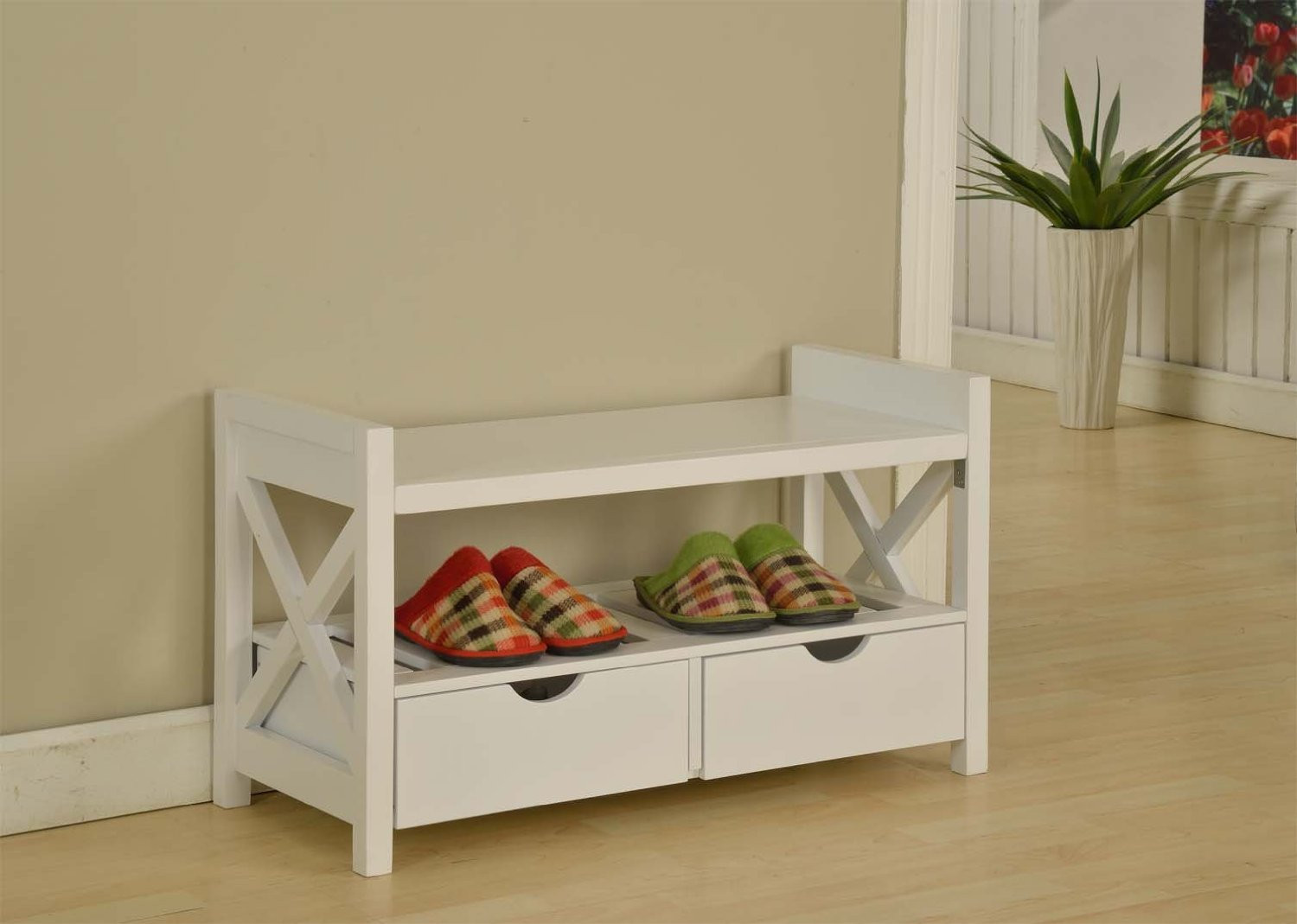 Best ideas about White Entryway Bench . Save or Pin White Entryway Bench Shoes — STABBEDINBACK Foyer Now.