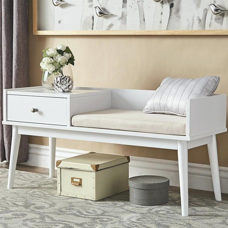 Best ideas about White Entryway Bench . Save or Pin Country Entryway Bench White — STABBEDINBACK Foyer Now.