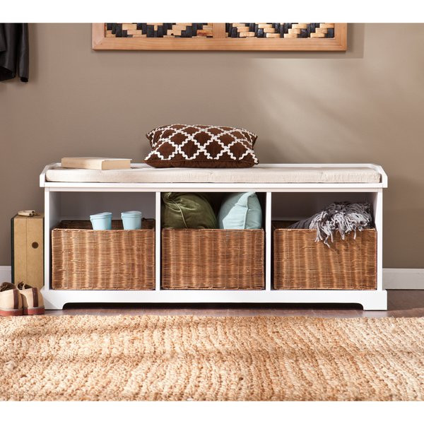 Best ideas about White Entryway Bench . Save or Pin Harper Blvd Lima White Entryway Storage Bench Free Now.