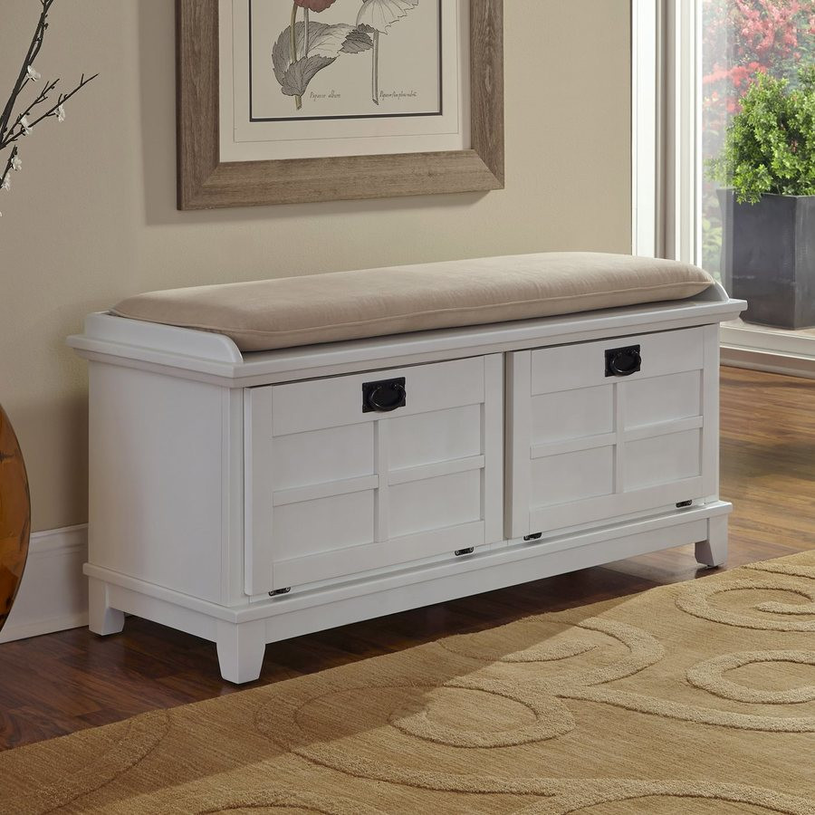 Best ideas about White Entryway Bench . Save or Pin White Entryway Storage Bench Design — Home Design Making Now.