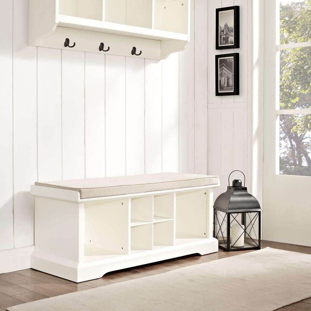 Best ideas about White Entryway Bench . Save or Pin Padded Entryway Bench White — STABBEDINBACK Foyer Now.