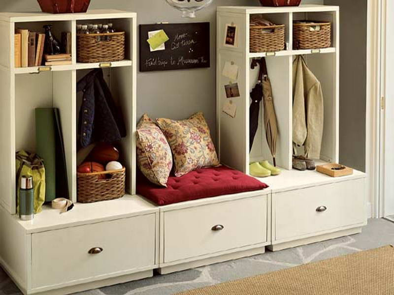 Best ideas about White Entryway Bench . Save or Pin White Entryway Storage Bench Drawer — Home Design Making Now.