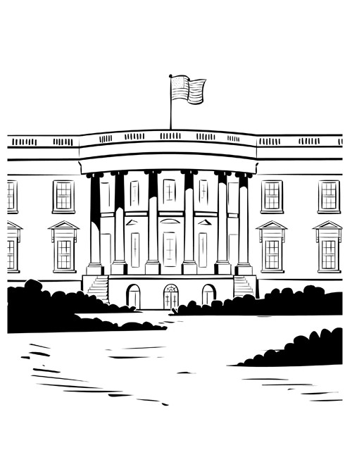 White House Coloring Sheets For Kids  White House Coloring Pages For Kids Coloring Home