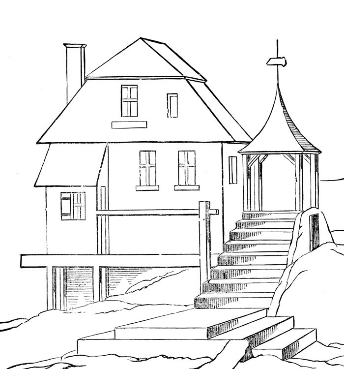 White House Coloring Sheets For Kids  Free Printable House Coloring Pages For Kids
