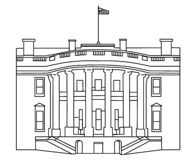 White House Coloring Sheets For Kids  history of the white house coloring sheet for children
