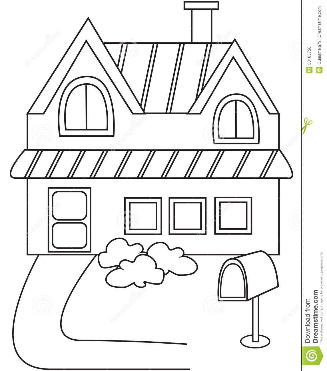 White House Coloring Sheets For Kids  Ev Boyama Sayfaları