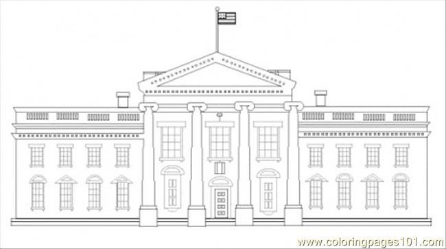 White House Coloring Sheets For Kids  White House Coloring Page Free Sightseeing Coloring