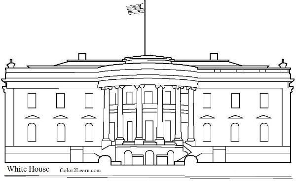 White House Coloring Sheets For Kids  the white house Architecture activities