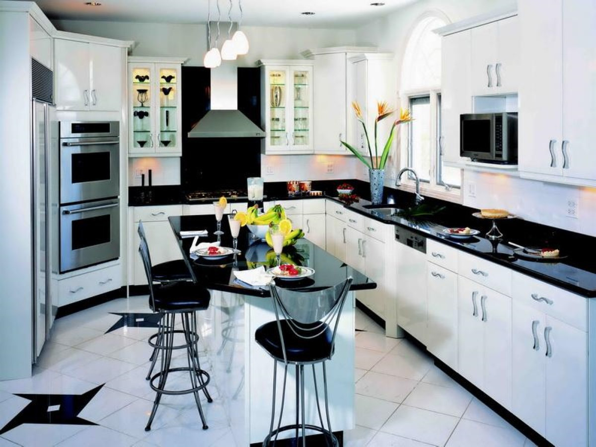 Best ideas about White Kitchen Decor . Save or Pin Black and White Kitchen Decor to Feed Exclusive and Modern Now.