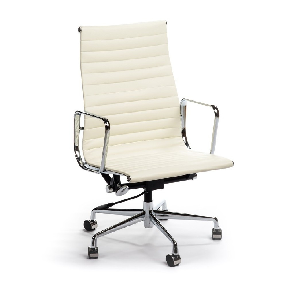 Best ideas about White Office Chair . Save or Pin Aluminum Highback White fice Chair Now.
