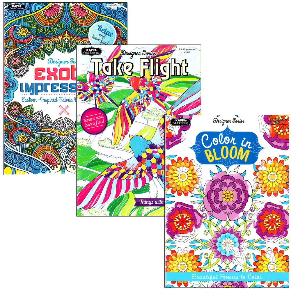 Wholesale Adult Coloring Books  Wholesale Kappa Adult Coloring Book assorted SKU