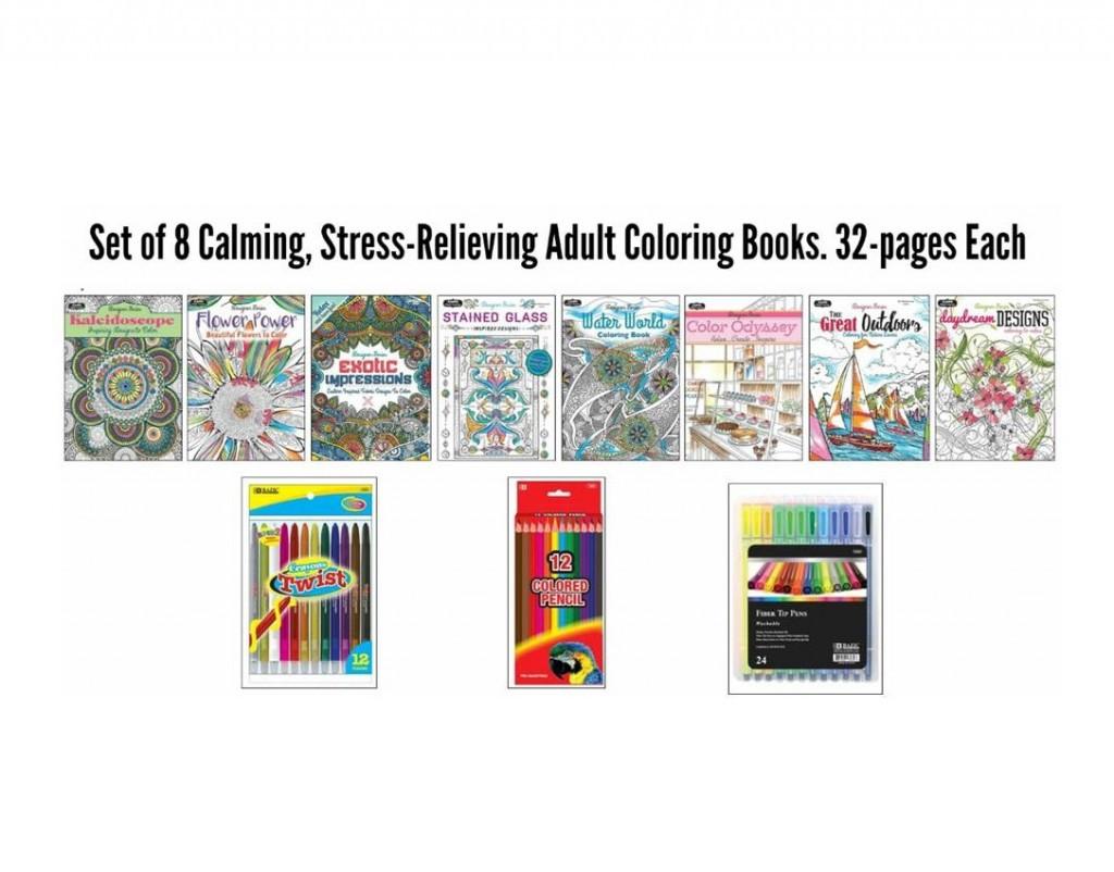 Wholesale Adult Coloring Books  Adult Coloring Book Wholesaler Mazer Wholesale