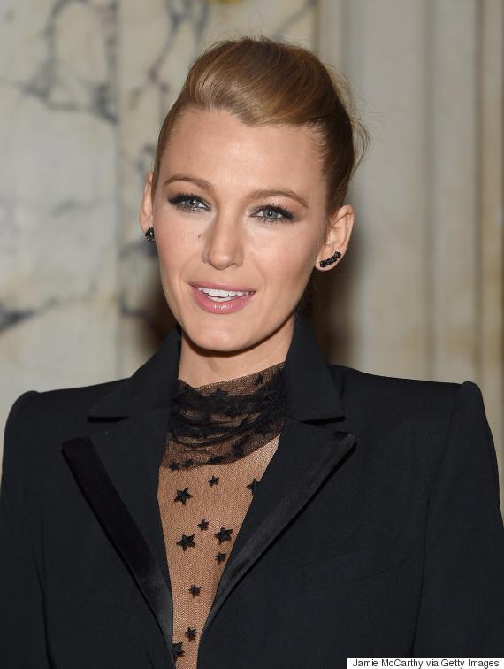 Widows Peak Hairstyles Female  Blake Lively s Sheer Bodysuit Leaves Us Starry Eyed