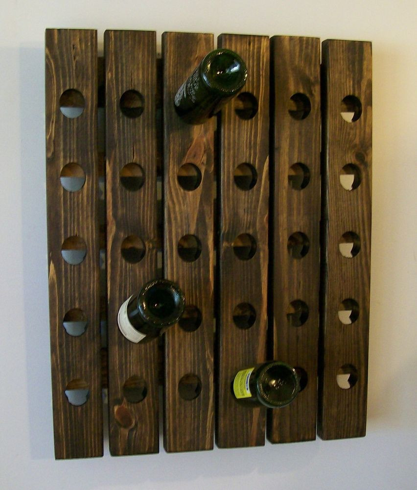 Best ideas about Wine Rack Wall Decor . Save or Pin Handmade Riddling Wine Rack Wood Wall Hanging Now.