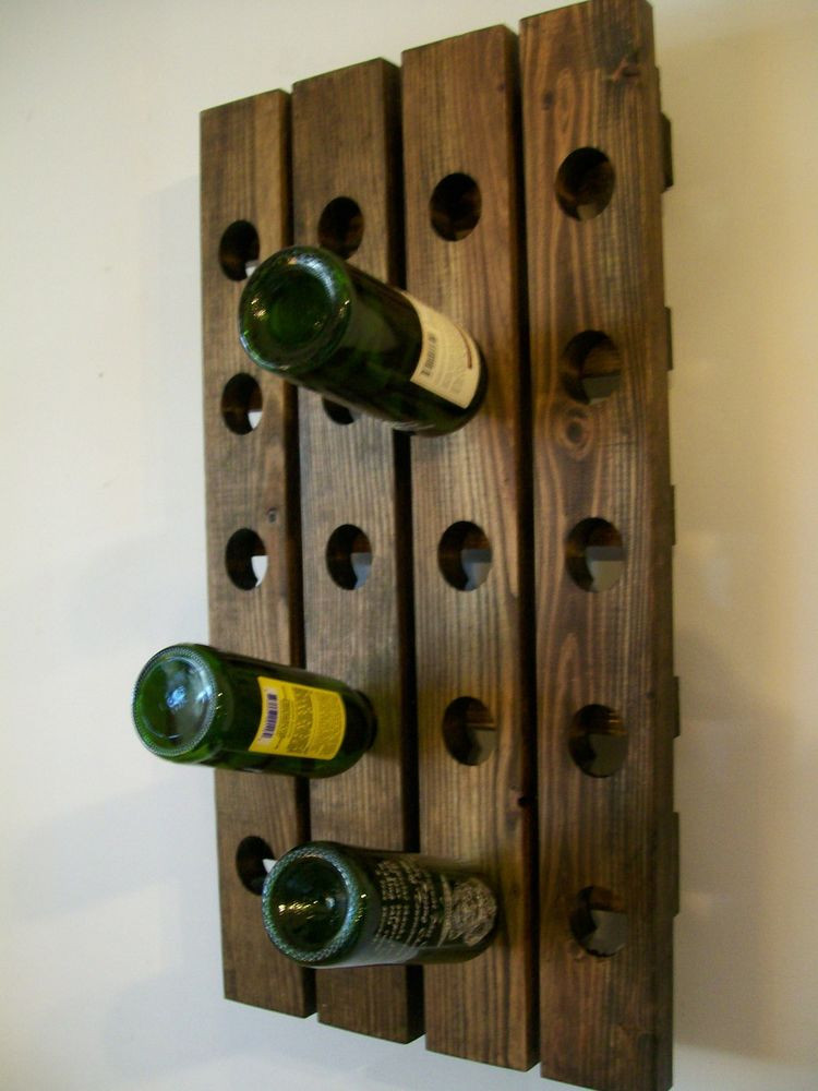 Best ideas about Wine Rack Wall Decor . Save or Pin Riddling Wine Rack Wood Handmade Rustic french Country Now.
