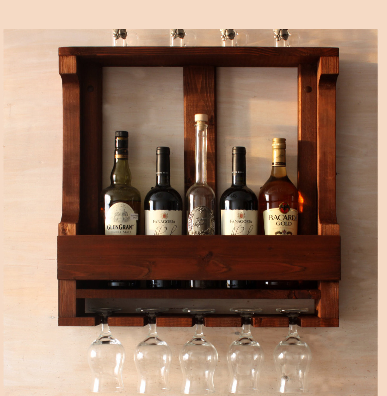 Best ideas about Wine Rack Wall Decor . Save or Pin Wine rack wall mounted Rustic wine rack Rustic decor Now.