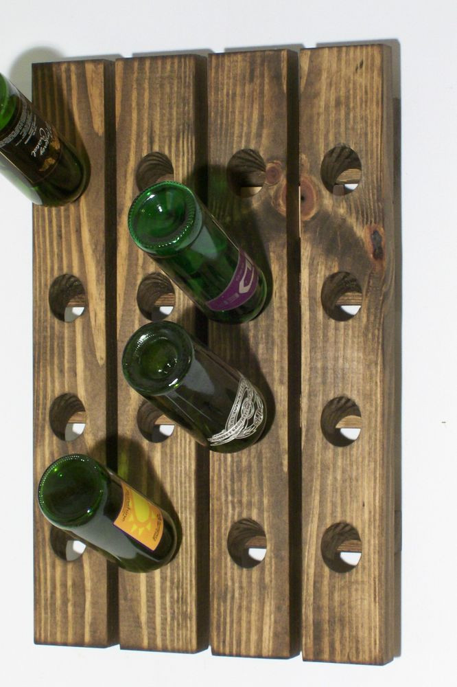Best ideas about Wine Rack Wall Decor . Save or Pin Wood Riddling Rack Handmade Wall Hanging Wine Rack Now.