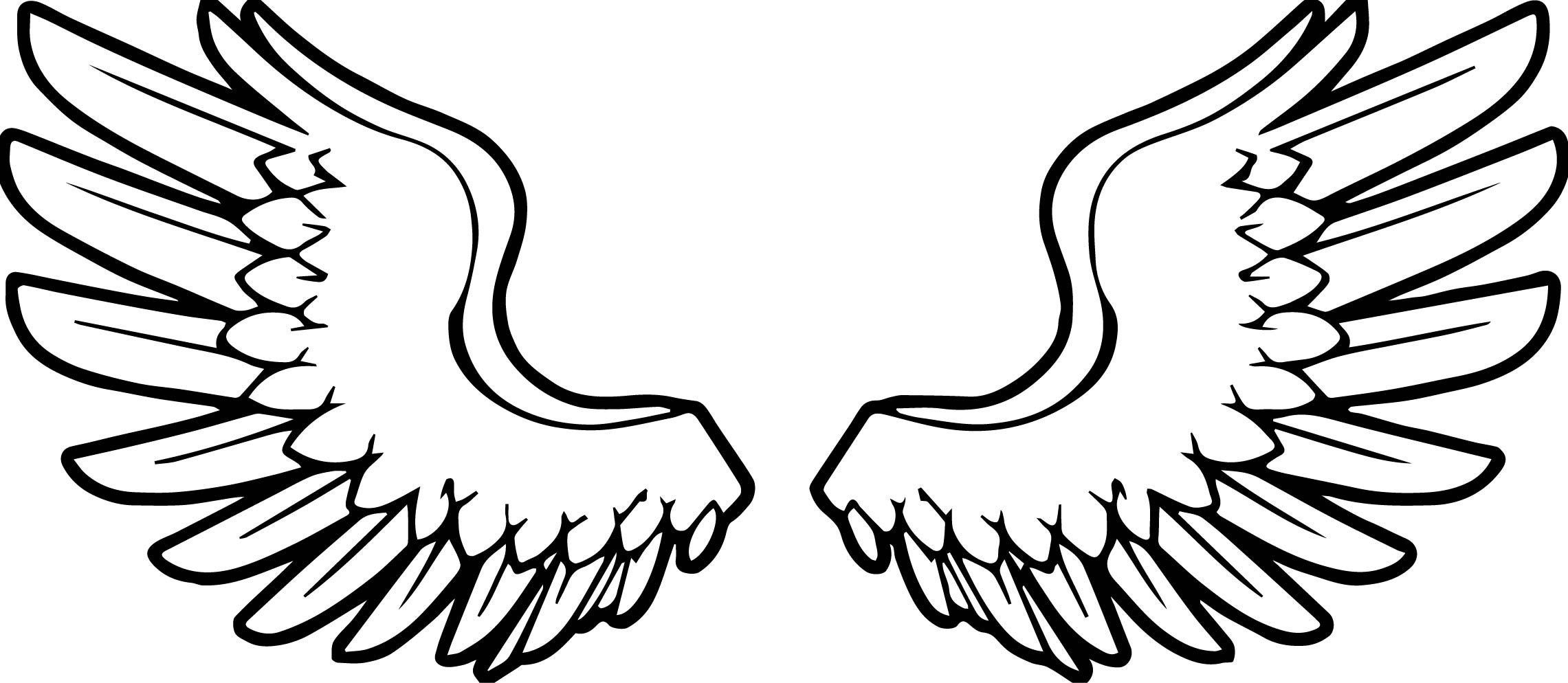 Wings Coloring Pages  Angel Wings Coloring Pages Download