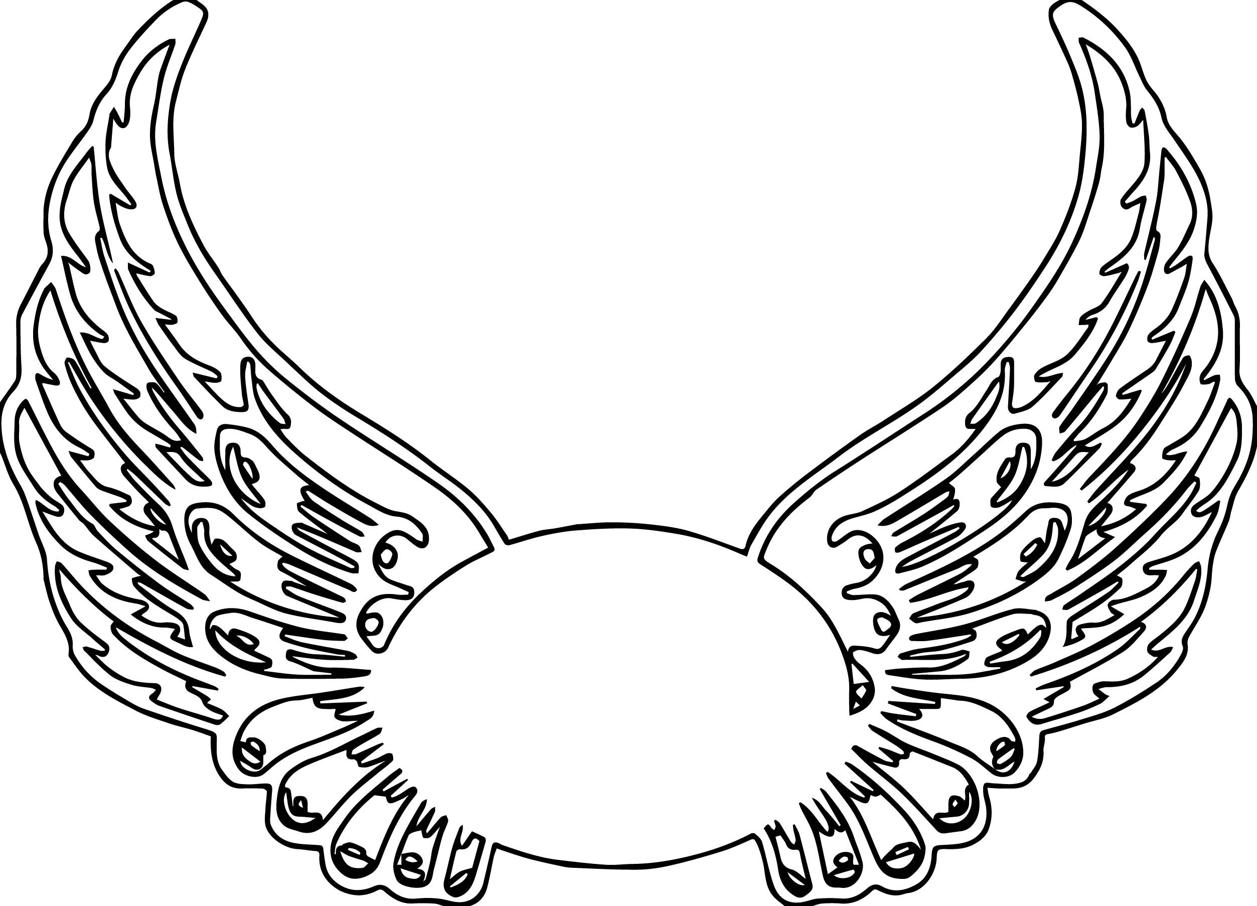 Wings Coloring Pages  Guardian Angel Wings Hi Coloring Page