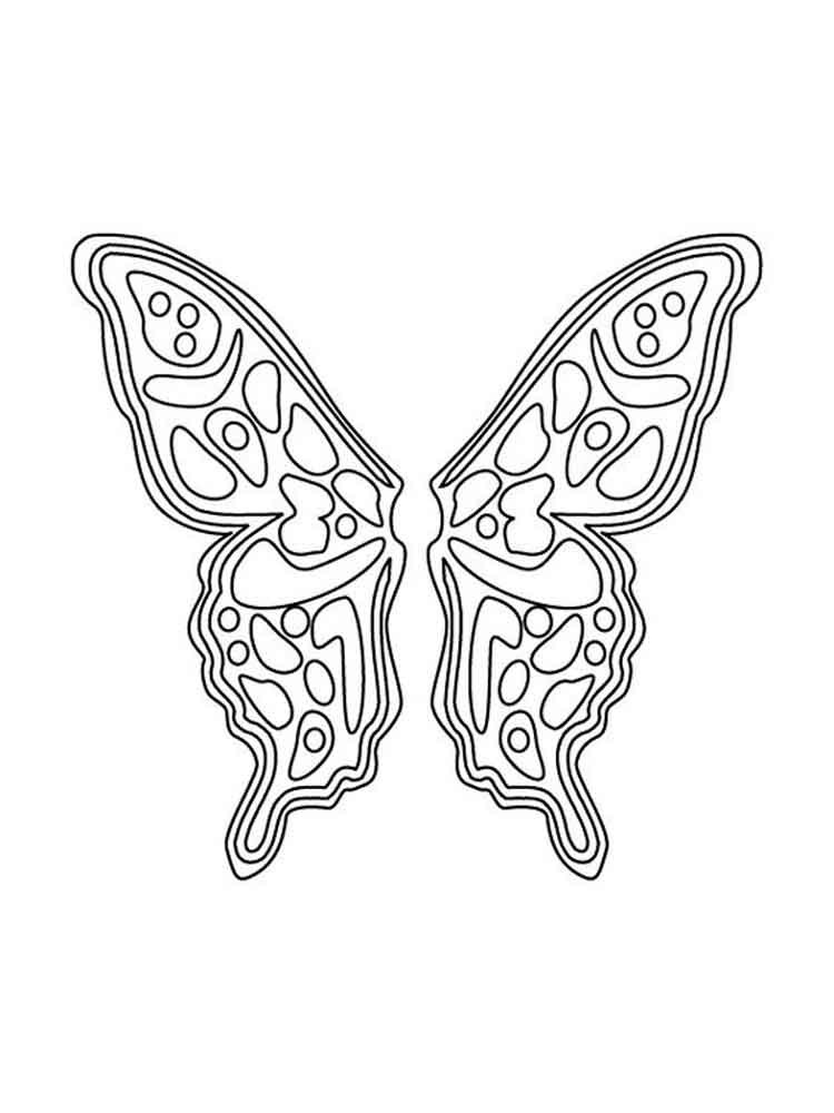 Wings Coloring Pages  Fairy Wings coloring pages Free Printable Fairy Wings