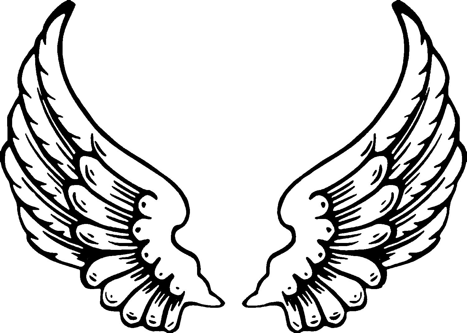 Wings Coloring Pages  Free Printable Angel Coloring Pages For Kids