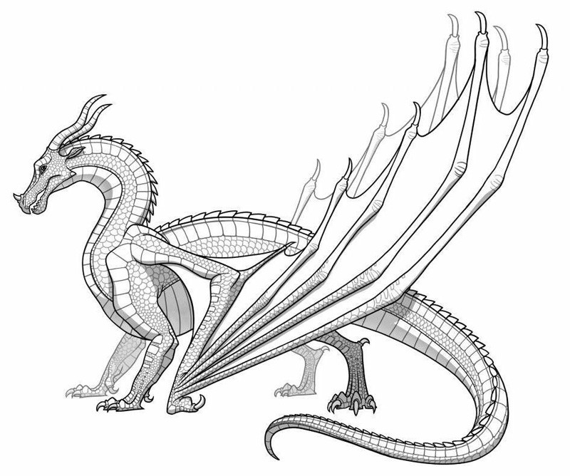 Wings Of Fire Coloring Pages  Dragon Coloring Pages Printable