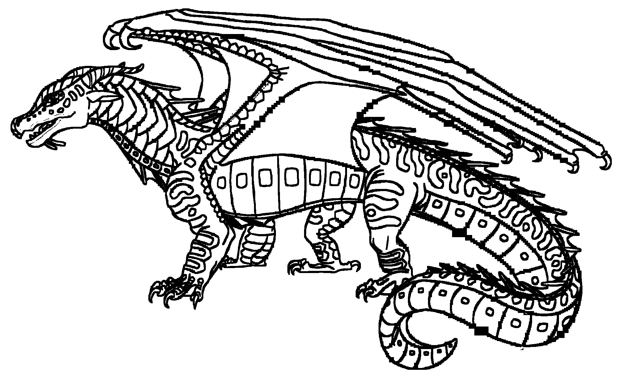 Wings Of Fire Coloring Pages  Wings Fire Dragons Coloring Pages Sketch Coloring Page