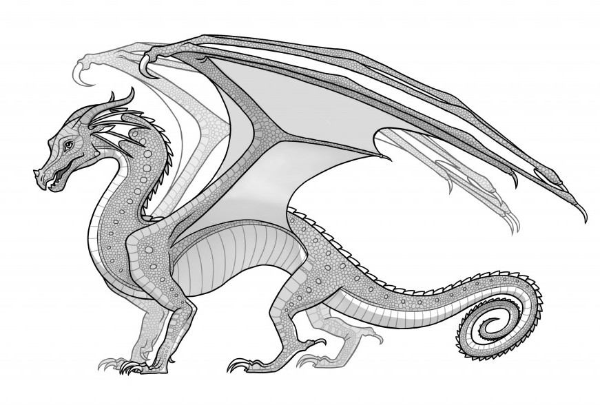 Wings Of Fire Coloring Pages  RainWings