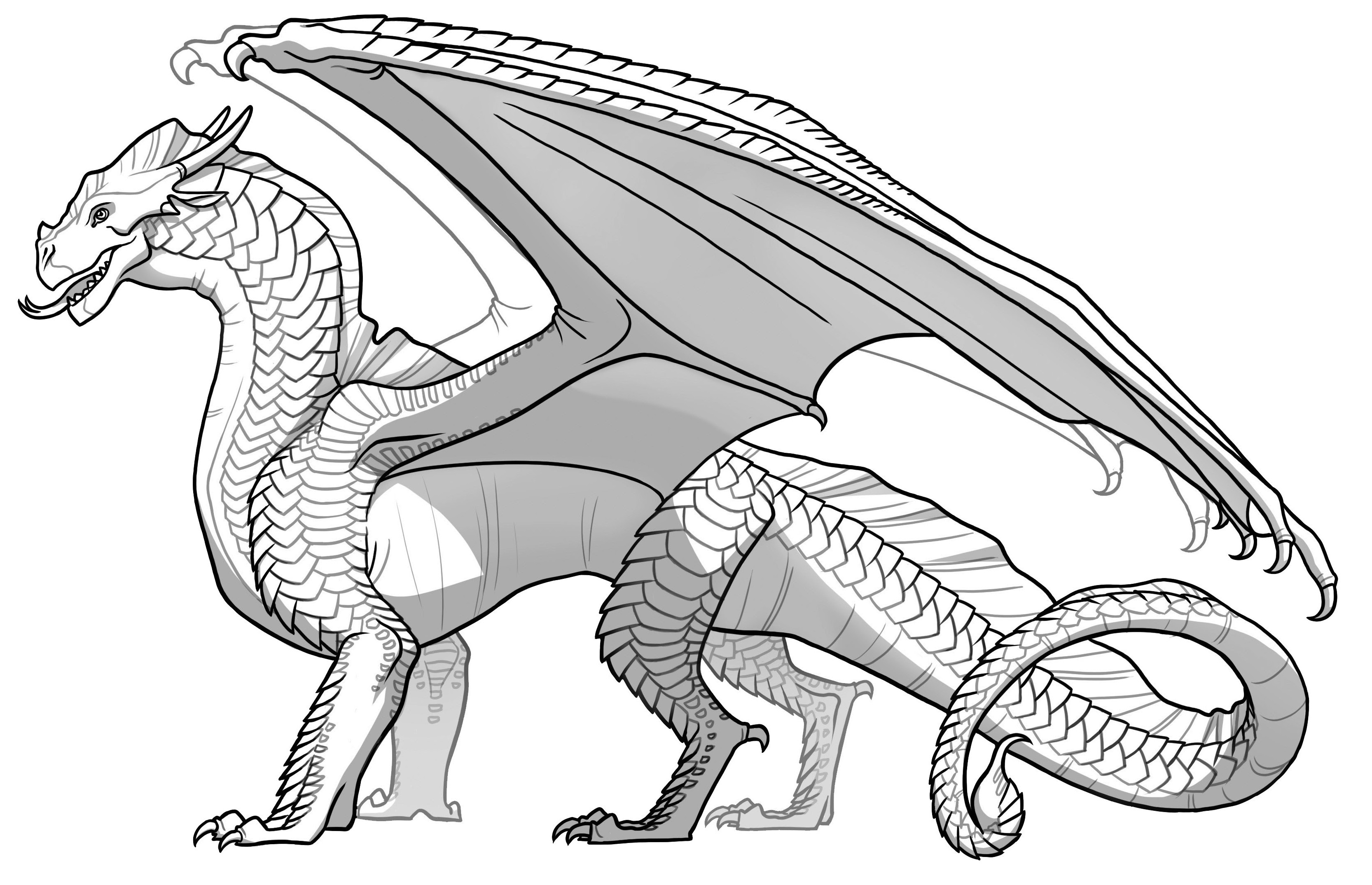 Wings Of Fire Coloring Pages  Wings Fire Line Art thekindproject