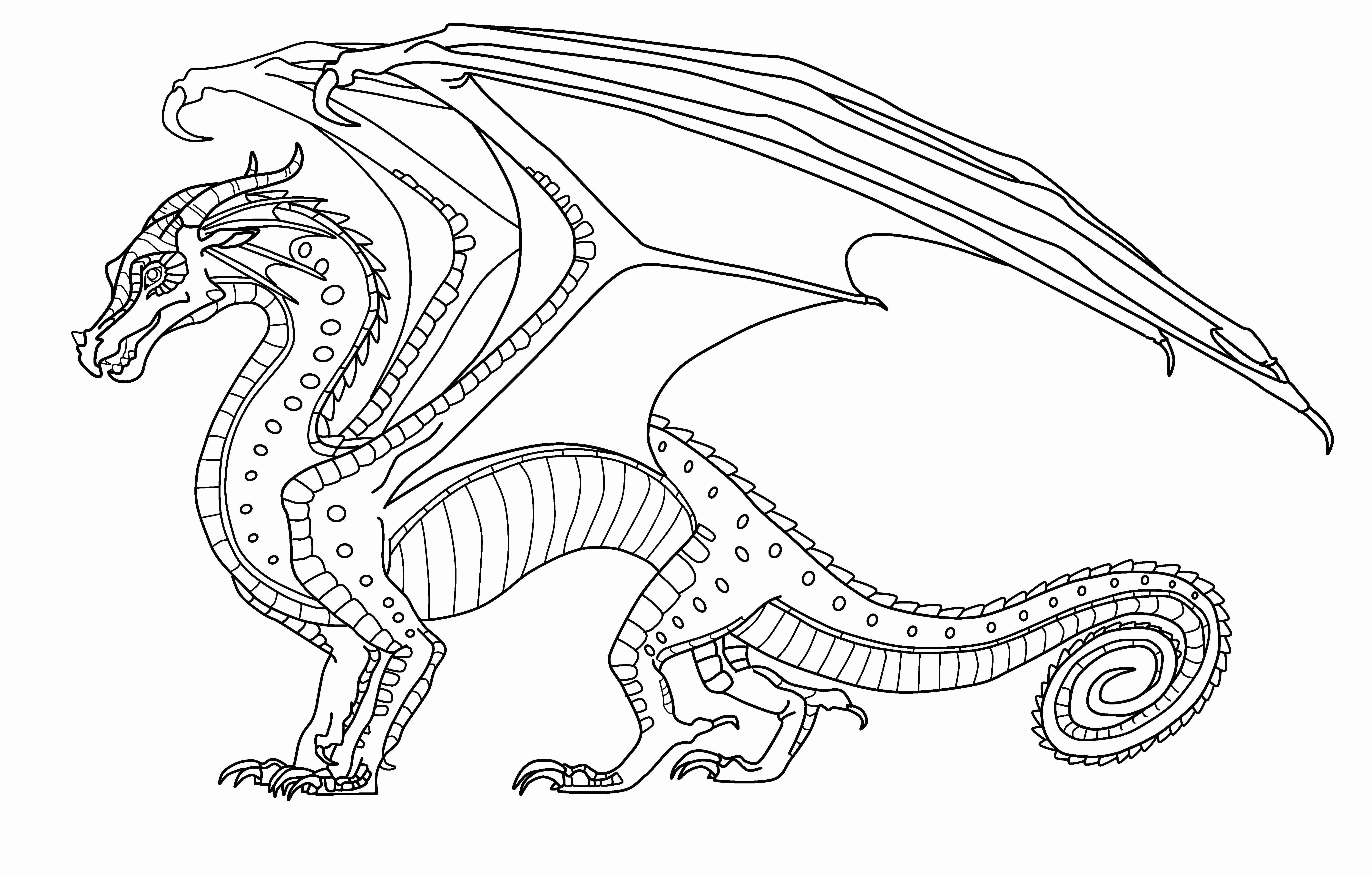 Wings Of Fire Coloring Pages  Wings Fire Rainwing Coloring Pages