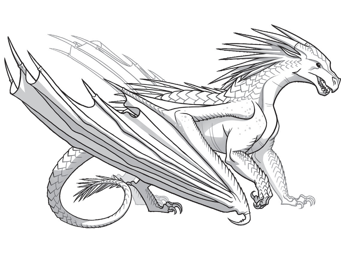 Wings Of Fire Coloring Pages  How To Draw A Wings Fire Dragon thekindproject