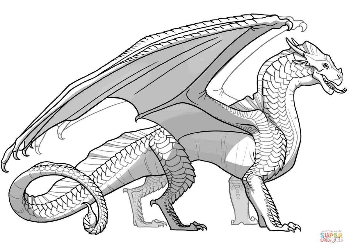 Wings Of Fire Coloring Pages  Wings of Fire Sandwing Dragon coloring page