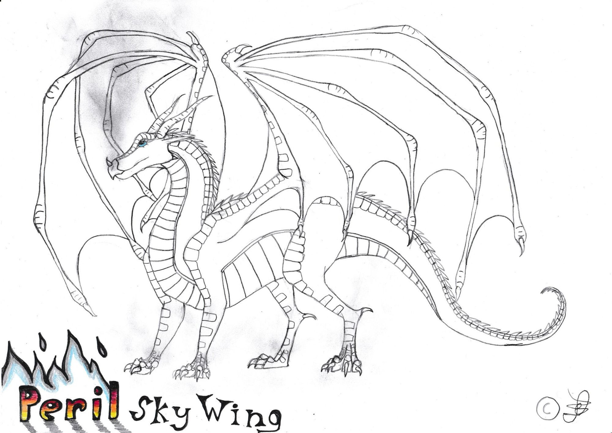 Wings Of Fire Coloring Pages  User blog YlimE mooP Wings Fire YlimeArt