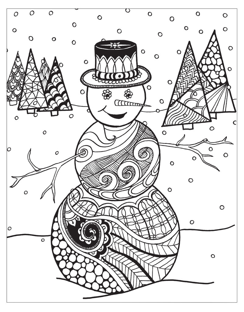 Winter Adult Coloring Pages  21 Winter Wonderland Coloring Pages Selection
