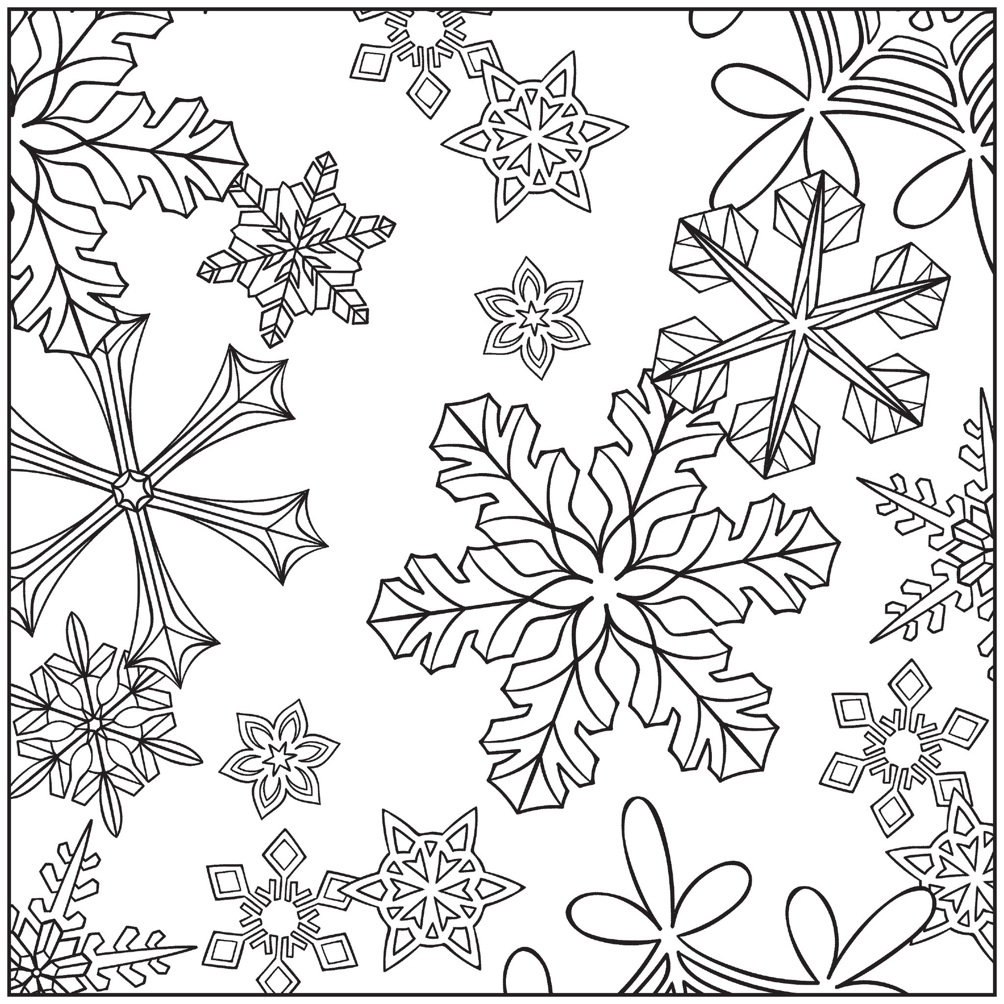 Winter Adult Coloring Pages  Winter Coloring Pages Adults