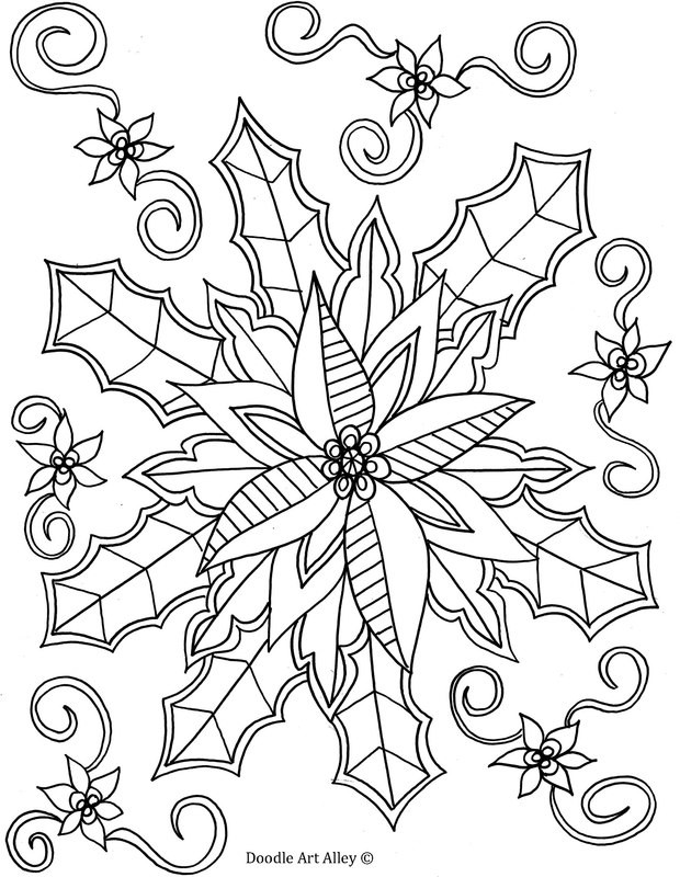 Winter Adult Coloring Pages  Winter Coloring pages Doodle Art Alley