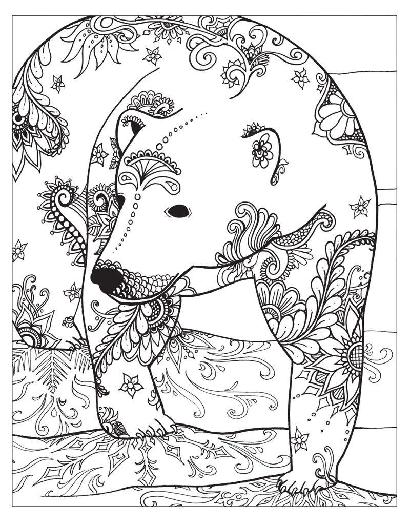 Winter Adult Coloring Pages  Zendoodle Coloring Winter Wonderland