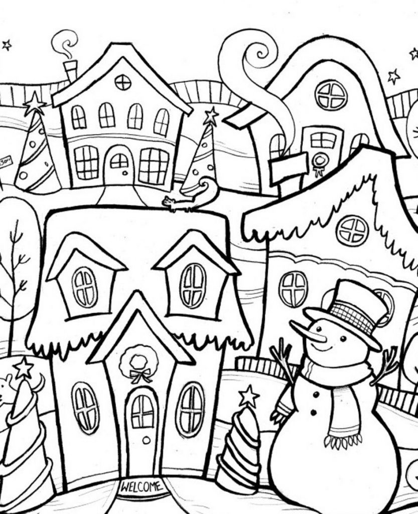 Winter Adult Coloring Pages  Christmas Coloring Pages for Adults Best Coloring Pages
