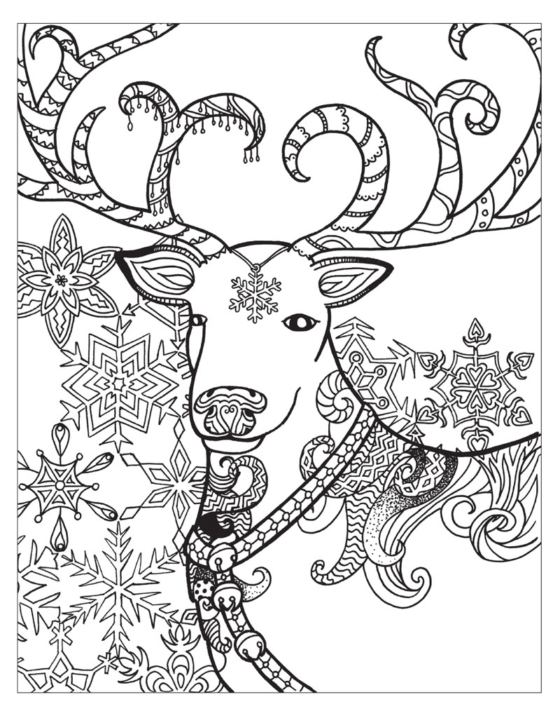 Winter Adult Coloring Pages  Zendoodle Coloring Winter Wonderland Jodi Best