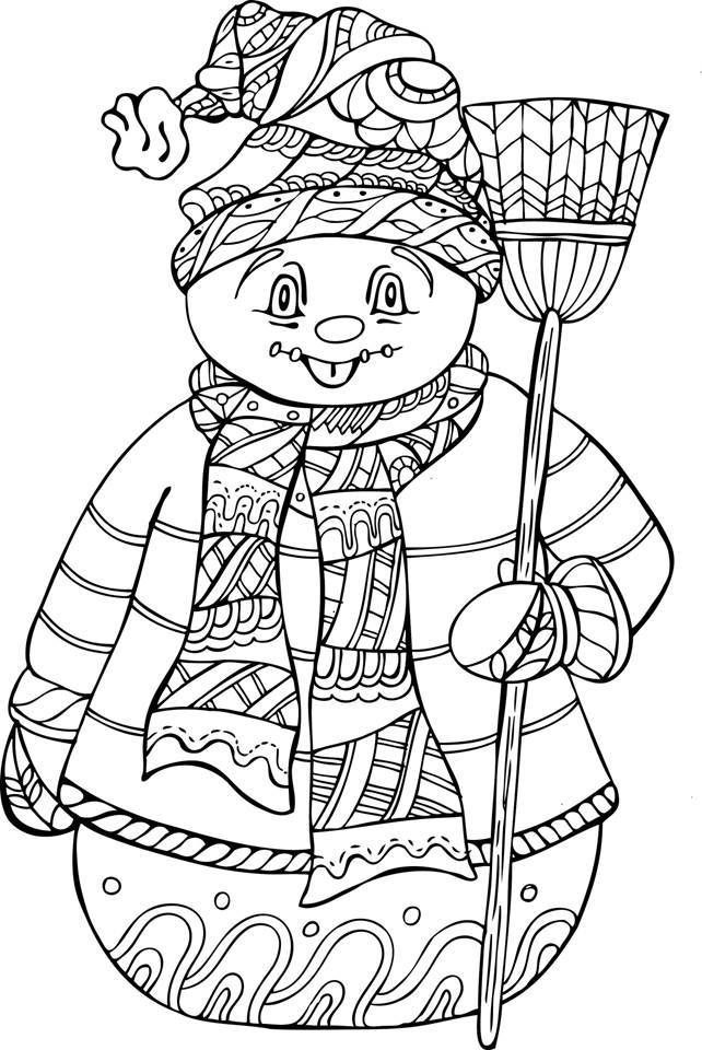 Winter Adult Coloring Pages  Winter Coloring Pages For Adults Web Gallery