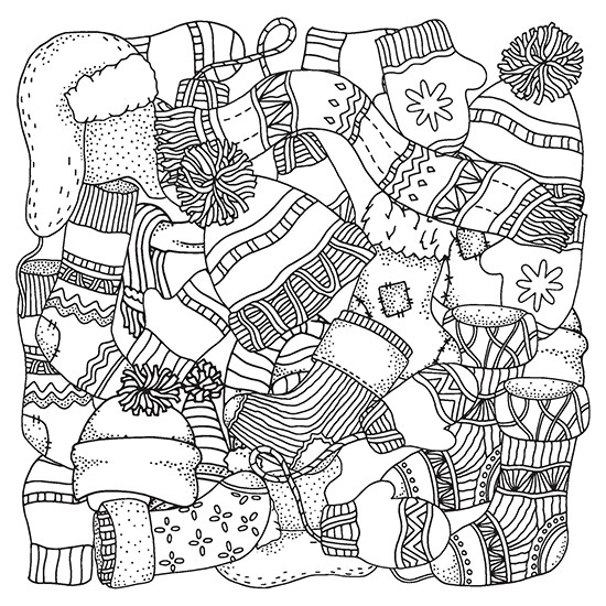 Winter Adult Coloring Pages  Color With Music Adult Coloring Books With Color Pencils