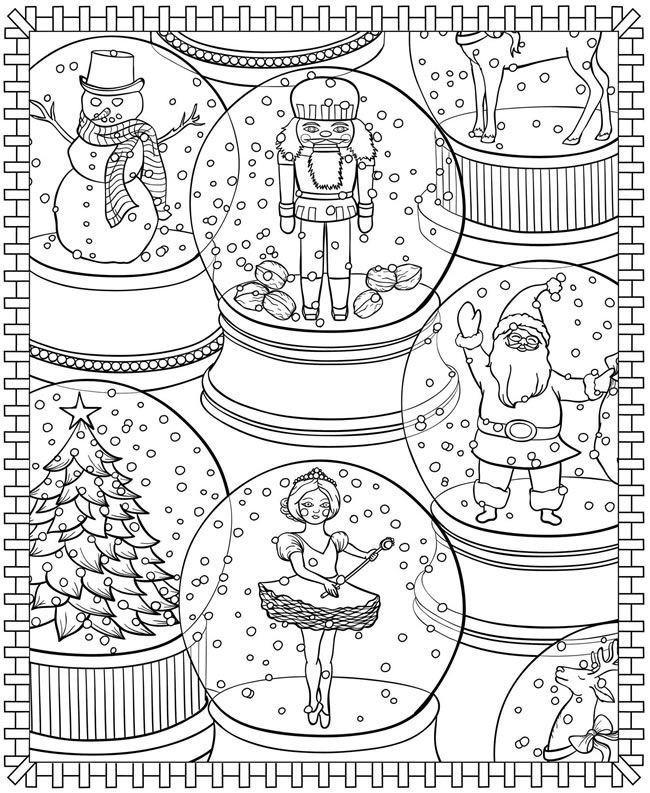 Winter Adult Coloring Pages  Winter Coloring Pages for Adults Best Coloring Pages For