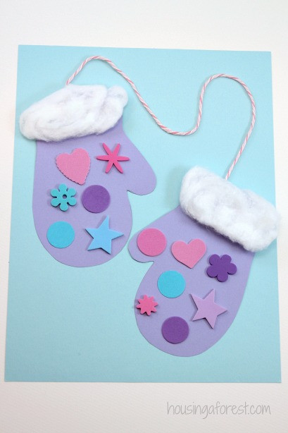 Best ideas about Winter Art Projects For Preschoolers . Save or Pin Winter Mitten Craft for Preschoolers Now.
