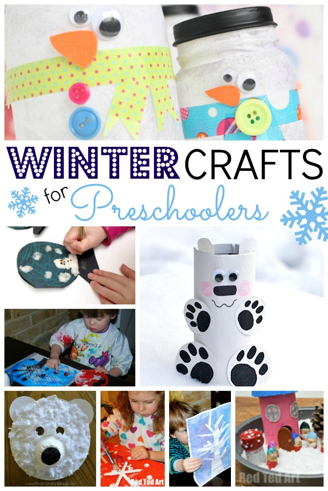 Best ideas about Winter Art Projects For Preschoolers . Save or Pin Easy Winter Crafts for Preschoolers Red Ted Art s Blog Now.