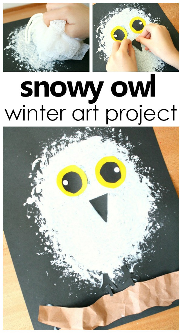 Best ideas about Winter Art Projects For Preschoolers . Save or Pin Snowy Owl Winter Craft for Kids Fantastic Fun & Learning Now.