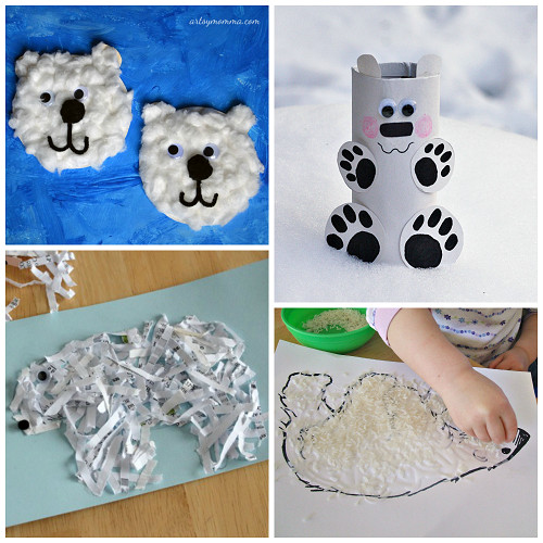 Best ideas about Winter Art Projects For Preschoolers . Save or Pin Winter Polar Bear Crafts for Kids to Make Crafty Morning Now.